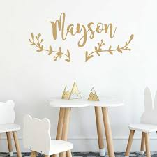 Boho Decor Custom Name Decal Personalized Childrens Name Wall Sticker Nursery Baby Kids Room Decal Art Poster Cn354 Wall Stickers Aliexpress