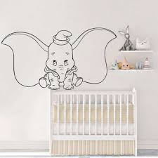 Dumbo Elephant Wall Decal Cartoons Animal Vinyl Wall Sticker Nursery Rooms Home Interior Art Decor Removable Mural Az214 Wall Stickers Aliexpress