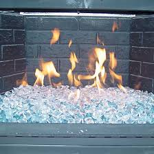ice crystals burning in a fireplace