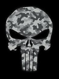 1 Punisher Urban Gray Camo Color Skull Die Cut Vinyl Decal Sticker Grey Ebay