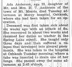 Pieces of Wild Rose, WI Area Genealogy and My Own: Ada Anderson's ...