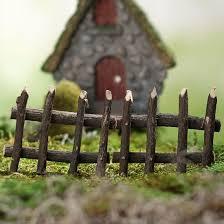 Miniature Rustic Twig Fence Fairy Garden Supplies Craft Supplies Factory Direct Craft