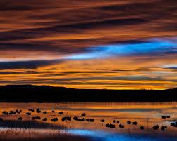 new mexico sunset reflection desktop pc