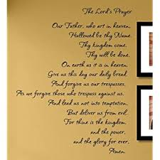 Amazon Com The Lord S Prayer Vinyl Wall Decals Quotes Sayings Words Art Decor Lettering Vinyl Wall Art Inspirational Uplifting Baby