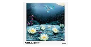 Lotus Pond Wall Decal Zazzle Com