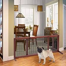 Amazon Com Petsjoy Dog Gate Freestanding Adjustable Indoor Pet Fence Pet Gate With Solid Construction Baby