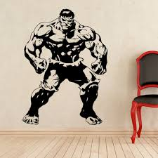 Superhero Hulk Vinyl Wall Decal The Avengers Movie Character Wall Stickers The Hulk Incredible Strong Man Marvel Poster Aj654 Wall Stickers Aliexpress