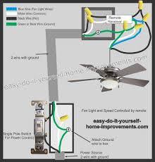 remote control ceiling fan wiring