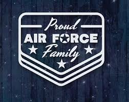 Air Force Family Car Stickers Etsy