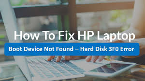 How To Fix HP Laptop Boot Device Not Found - Hard Disk 3F0 Error   HP  Laptop Hard Disk Error