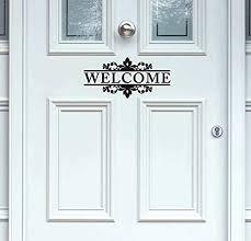 Amazon Com Yttbuy Welcome Front Door Vinyl Decal Welcome Door Vinyl Decal Welcome Front Door Sticker Welcome Door Decal Welcome Sticker Vinyl Decal Door 4 5 X 10 5 Set Of 2 Home Kitchen