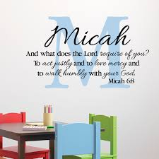 Micah 6v8 Vinyl Wall Decal 3 Act Justly Love Mercy Walk Humbly