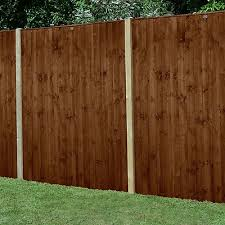 Forest 6 X 6 Pressure Treated Featheredge Fence Panel Dark Brown 1 83m X 1 85m Shedstore