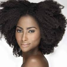 4c 4b afro curly clip in hair