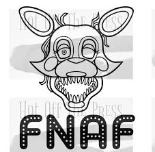 Fnaf Mangle Svg Dxf Files For Silhouette For Cricut Vector Etsy