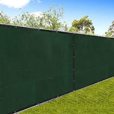 Amagabeli 5 8 X50 Fence Privacy Screen Heavy Duty For 6 X50 Chain Link Fence Fabric Screen With Brass Grommets Outdoor 6ft Patio Construction Fencing 90 Blockage Shade Tarp Mesh Uv Resistant Green Amazon Co Uk Garden