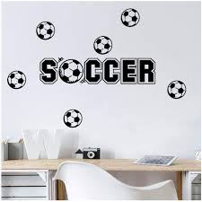 Amazon Com Wociaosmd Soccer Wall Sticker Removable Art Vinyl Mural Home Room Decor Wall Stickers For Boys Room Decals Black Baby