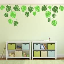 Product Details Tropical Jungle Leaves Wall Stickers Cheese Plant Leaf Wall Sticker Leaf Wal Jungle Wall Stickers Wall Decals For Bedroom Bedroom Stickers