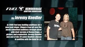 Jeremy Knedler - Hemorrhage Audition - YouTube