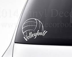 Volleyball Car Decal Vinyl Lettering Bumper Sticker High School Volleyball Vinyl Decal Car Decals Vinyl Bumper Stickers Volleyball
