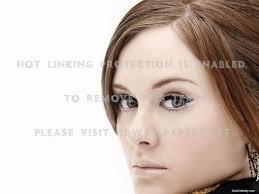 adele brown hair blue eyes nice face pop