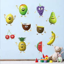 Decalmile Kitchen Fruit Wall Decals Bana Buy Online In French Polynesia At Desertcart