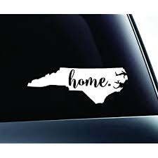 Amazon Com Expressdecor Home State North Carolina Symbol Decal Family Love Car Truck Sticker Window White Automotive