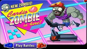 New zombie! Cardio ZOMBIE is here play Battlez in Plants vs ...