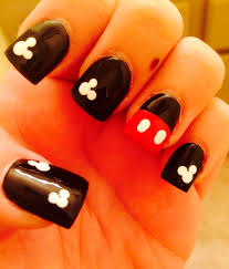 21 New Nail Designs - Mickey Mouse Nails Best Mickey Mouse Nail Design  Finger Glam Pinterest | 21 New Nail Designs… | Mickey nails, Mickey mouse  nails, Disney nails