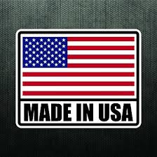 Made In Usa America Vinyl Sticker Decal United States Flag Decal For Truck Car Ebay
