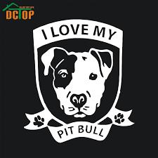 I Love My Pit Bull Dog Vinyl Decal Car Truck Sticker Bumper Window Adopt Rescue Pitbull Pit Truck Stickers Decals Carvinyl Decal Aliexpress