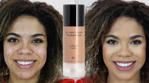 h m foundation review oily skin