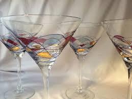 romania milano crystal martini glasses