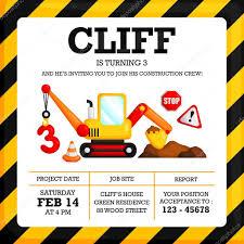 Construction Birthday Invitation Stock Vector C Comodo777 64357045