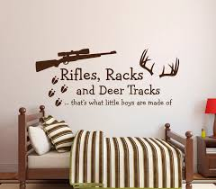 Custom Color Boys Bedroom Wall Stickers Rifles Racks Deer Tracks That S What Little Boys Are Made Of Wall Decal A042 Wall Sticker Bedroom Wall Stickersboy Bedroom Aliexpress