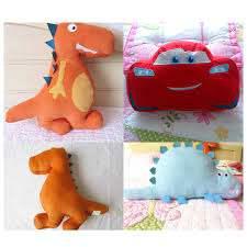 Cute Animals Dinosaur Car Shape Pillow Kids Bed Room Sofa Home Car Decorative Toys Baby Calm Sleep Dolls Boys Gifts Photo Props Plush Pillows Aliexpress
