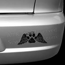 Personalized Angel Paw Print Decal Sew Dog Crazy
