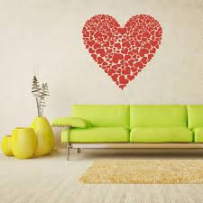 Wall Decal Vinyl Decal Sticker Decals Heart Many Hearts Love Z1686 Stickersforlife