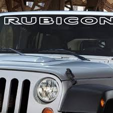 Windshield Banner Decal Jeep Rubicon V1