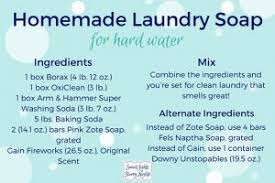 homemade laundry soap for hard water