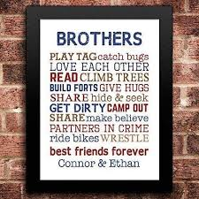 Amazon Com Brother Rules Paper Art Print Brother Wall Art Brother Sign Shared Boys Room Brother Playroom Boy Playroom Brother Gift Brother Decor Handmade