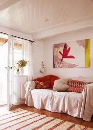 canvas drop cloth as a sofa throw i m
