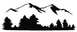 Mountain Tree Line Decal Google Search Vinyl Wall Art Decals Mountain Silhouette Decal Wall Art