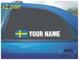 Your Name Rally Race Car Window Sticker Decal With Swedish Etsy