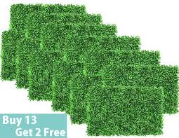 Artificial Boxwood Mat Panel Wall Hedge Decor Fake Fence Outdoor Privacy Screen For Party Grass Wall Artificial Plants Aliexpress