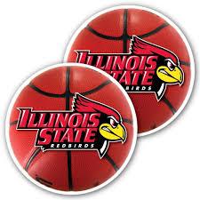 Illinois State University Basketball Window Decal Set Of 2