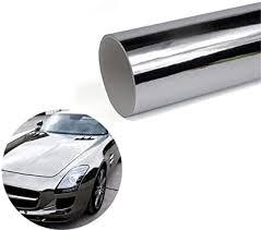Amazon Com Ecyc Silver Vinyl Wrap Car Body Mirror Silver Glue Sticker Decal Auto Chrome Foil Wrap Covers Automotive