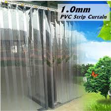 Lớn PVC Dải Màn Tủ Đông Cửa Phòng Dải Bộ 200*18*0.1 Cm Treo Đường Sắt Màn  Cửa Chống Gió Nhiệt lạnh Chống Cự Trong Suốt|