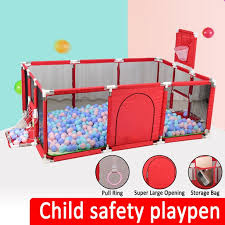 Portable Baby Playpen Household Indoor Protective Safety Fence Play Yard With Thickened Mat Walmart Com Walmart Com