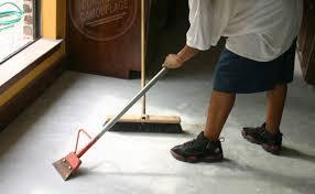 remove carpet glue from concrete floor